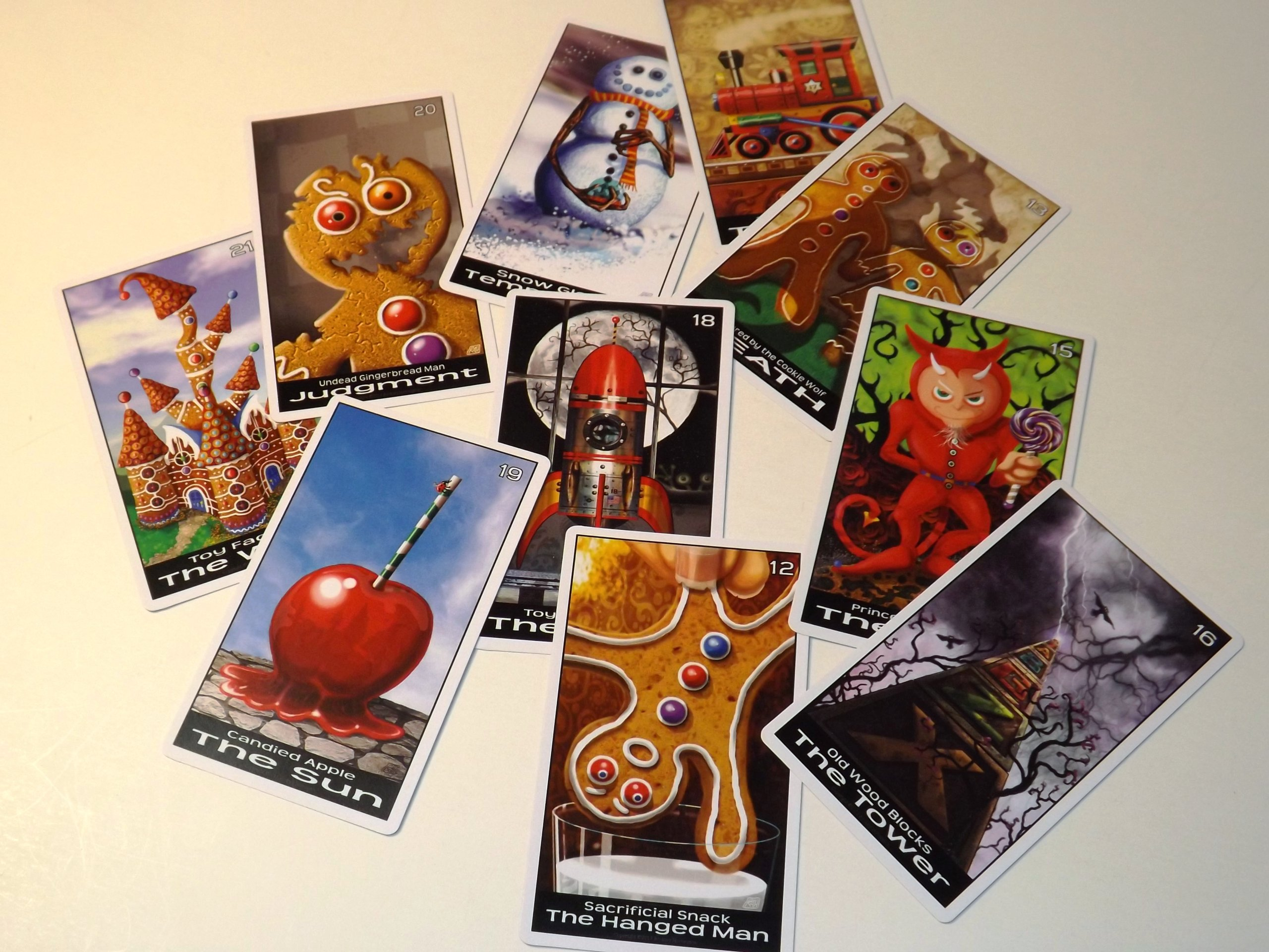 Twisted Toyland Tarot Cards - 22 Card Major Arcana Deck (With Handmade Tarot bag) by Oracles Forest Studios (Image #2)
