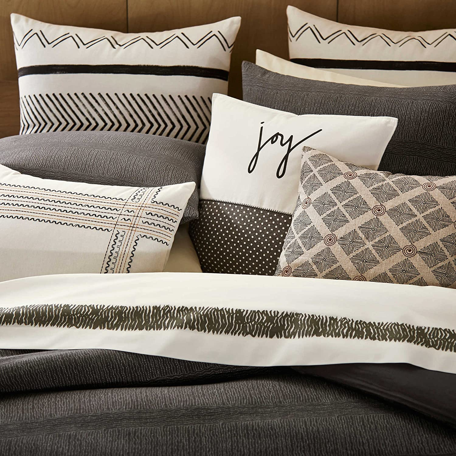 Ellen Degeneres European Pillow Sham from the Mombasa Bedding Collection in an Ivory Color