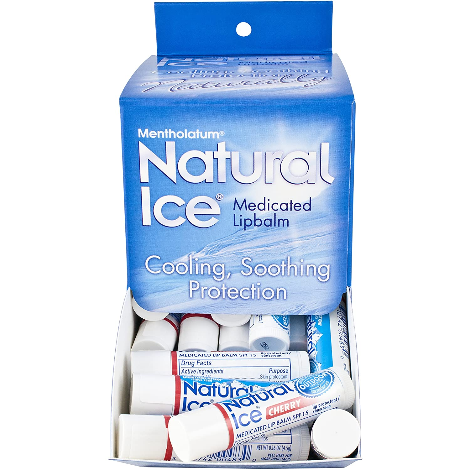 Natural Ice Cherry, 0.16 ounce Tubes (Pack of 48) by Natural Ice 0483