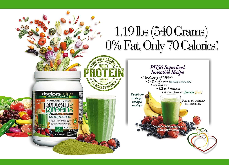 Amazon.com: (Pack de 2) PH50 Proteínas verdes Bebida con ...