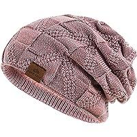 PAGE ONE Winter Beanie Hat Warm Knit Hat Men Thick Fleece Lined Winter Hat
