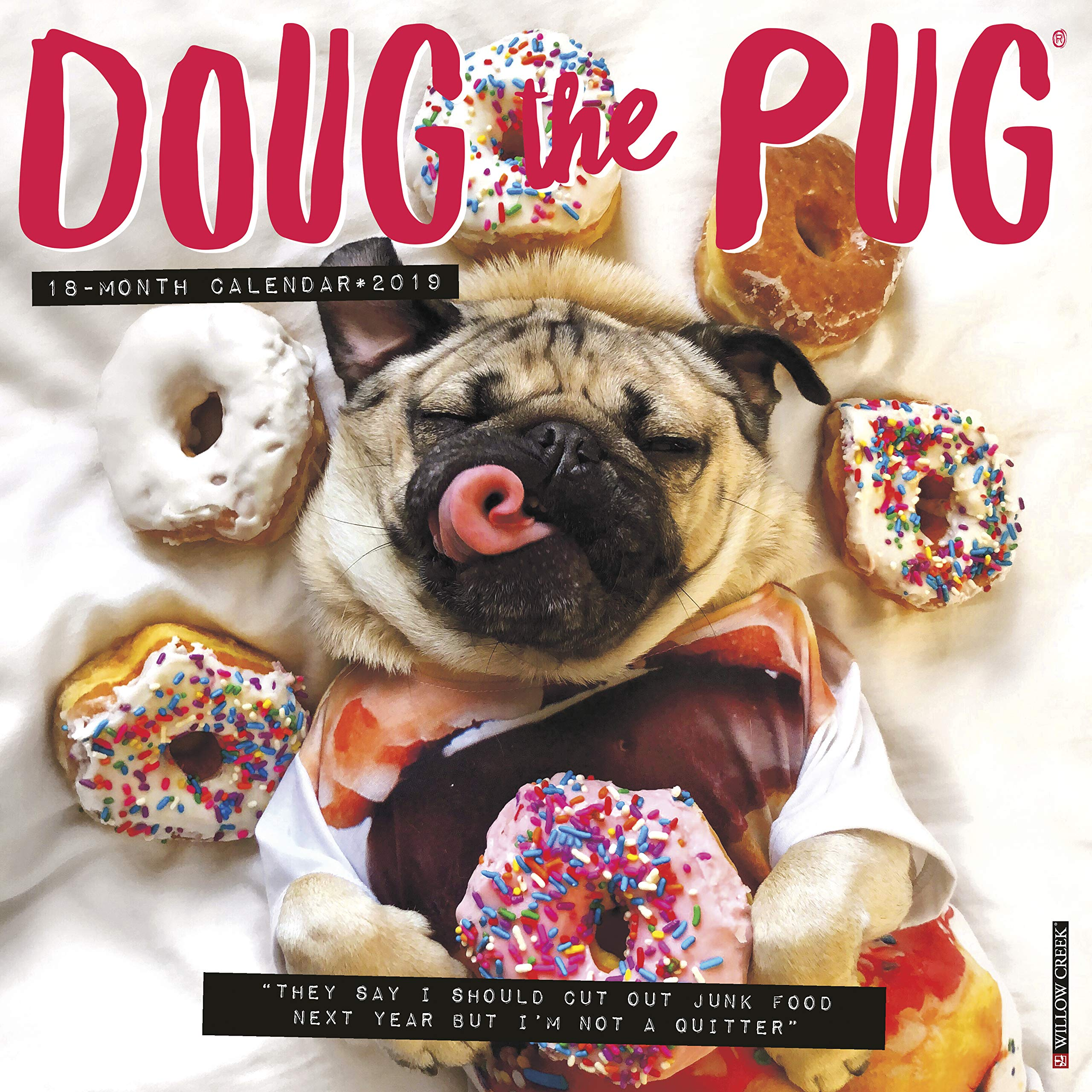 doug the pug 2019 wall calendar dog breed calendar