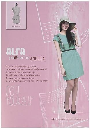 95ec30746 Alfa Amelia-Patrón de Costura  Amazon.es  Hogar