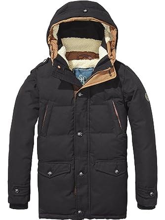 Scotch&Soda Shrunk Teddy Lined Coat, Manteau Gar?on, (Honey 474), 164 (Taille Fabricant: 14)