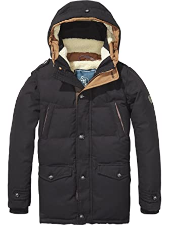 Scotch & Soda Shrunk Teddy Lined Coat, Abrigo para Niños, Gris (Antra 005