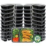 2 个隔间食品容器盒 透明 40 Pack KF-005-2
