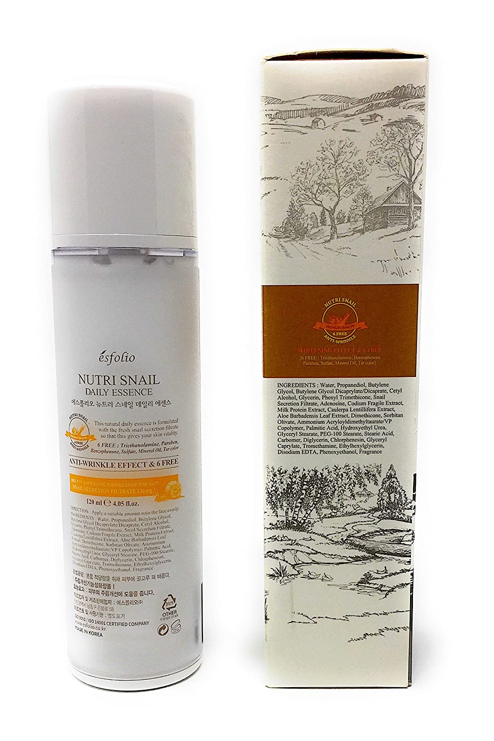 Amazon.com: Nutri Snail Anti-Wrinkle Daily Essence by Esfolio (4.5 fl oz): Beauty