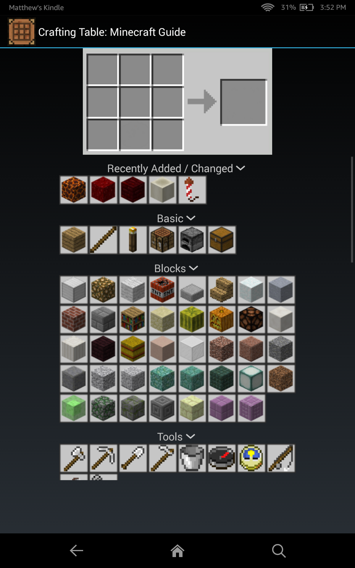 Amazon Com Crafting Table A Minecraft Guide Appstore For Android