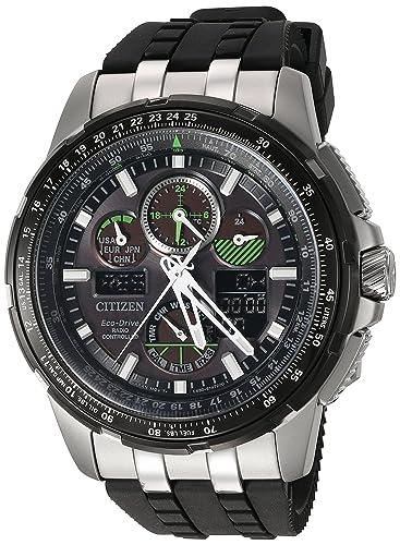 CITIZEN RELOJ DE HOMBRE ECO-DRIVE 47MM CORREA DE GOMA CAJA DE ACERO JY8051-08E: Amazon.es: Relojes