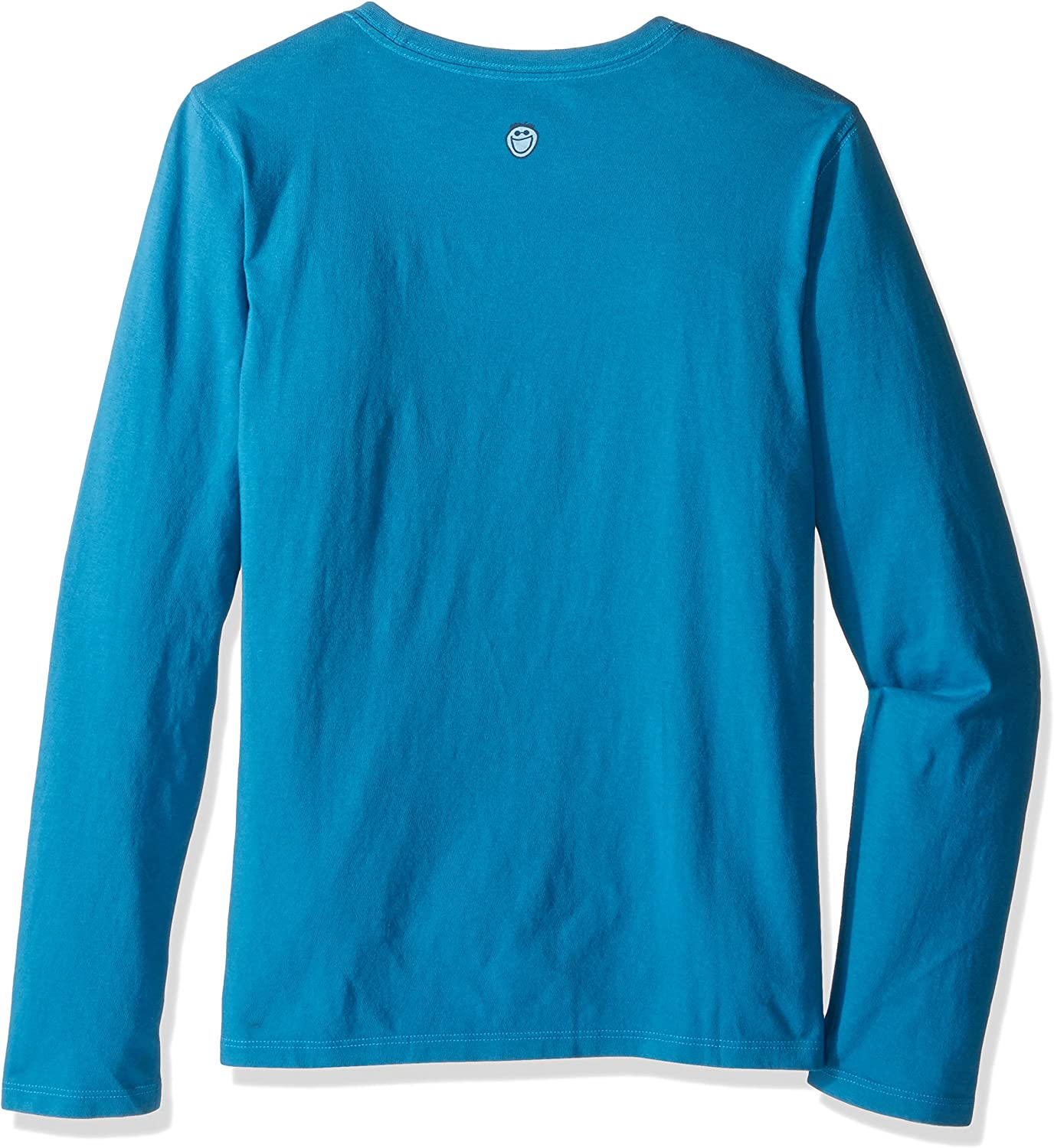 Denim Blue Life is Good Crusher Longsleeve Apres Ski Painted T-Shirt
