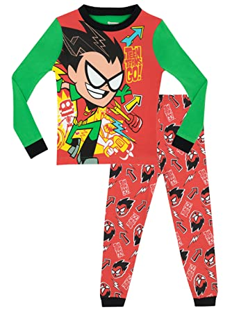 Boys Teen Titans Pajamas Size 8