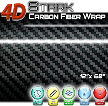 "*24/""x60/"" 4D Gloss Orange Carbon Fiber Vinyl Wrap Sticker Bubble Free Air Release"