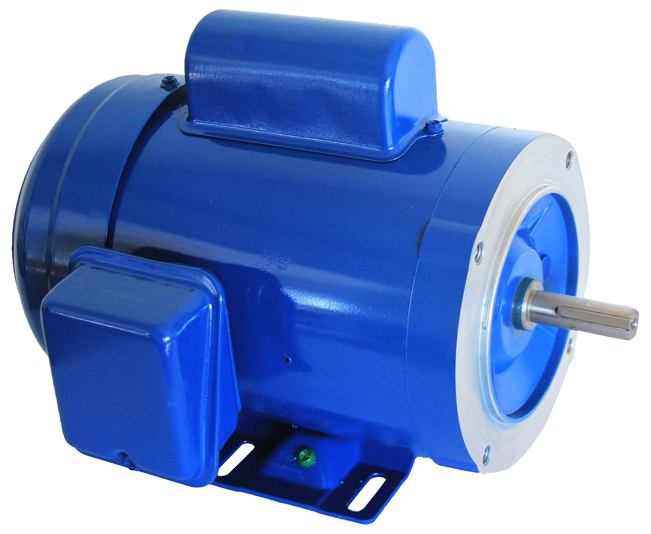 Hallmark Industries MA0510A AC Motor, 1 hp, 1725 RPM, 1PH/60 Hz, 115/208-230 VAC, 56C/TEFC, Cap Start with Foot, SF 1.15, Class F Insulation (Pack of 1) by Hallmark Industries (Image #1)