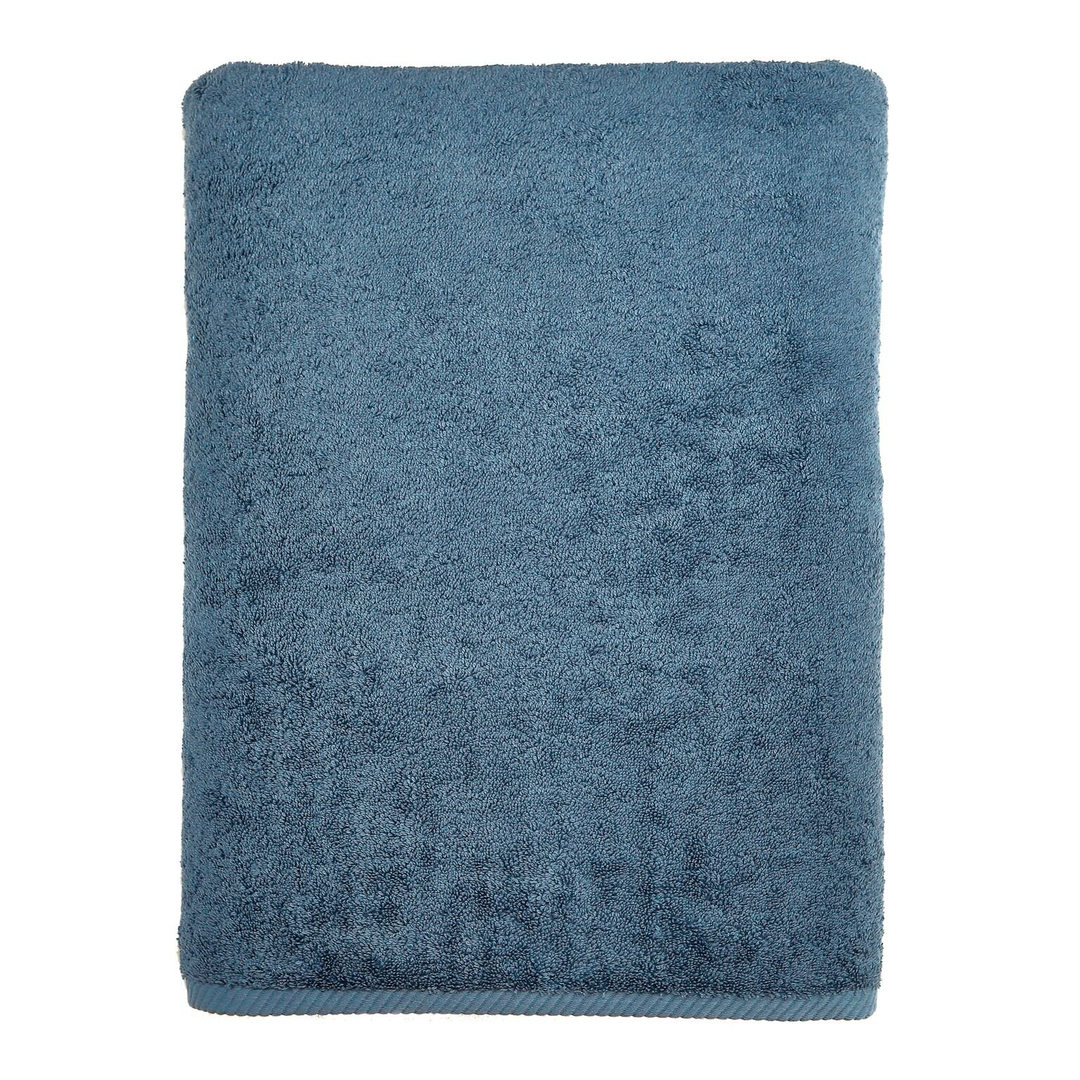 Linum Home Textiles Soft Twist Premium Authentic Soft 100% Turkish Cotton Luxury Hotel Collection Bath Sheet, Midnight Blue