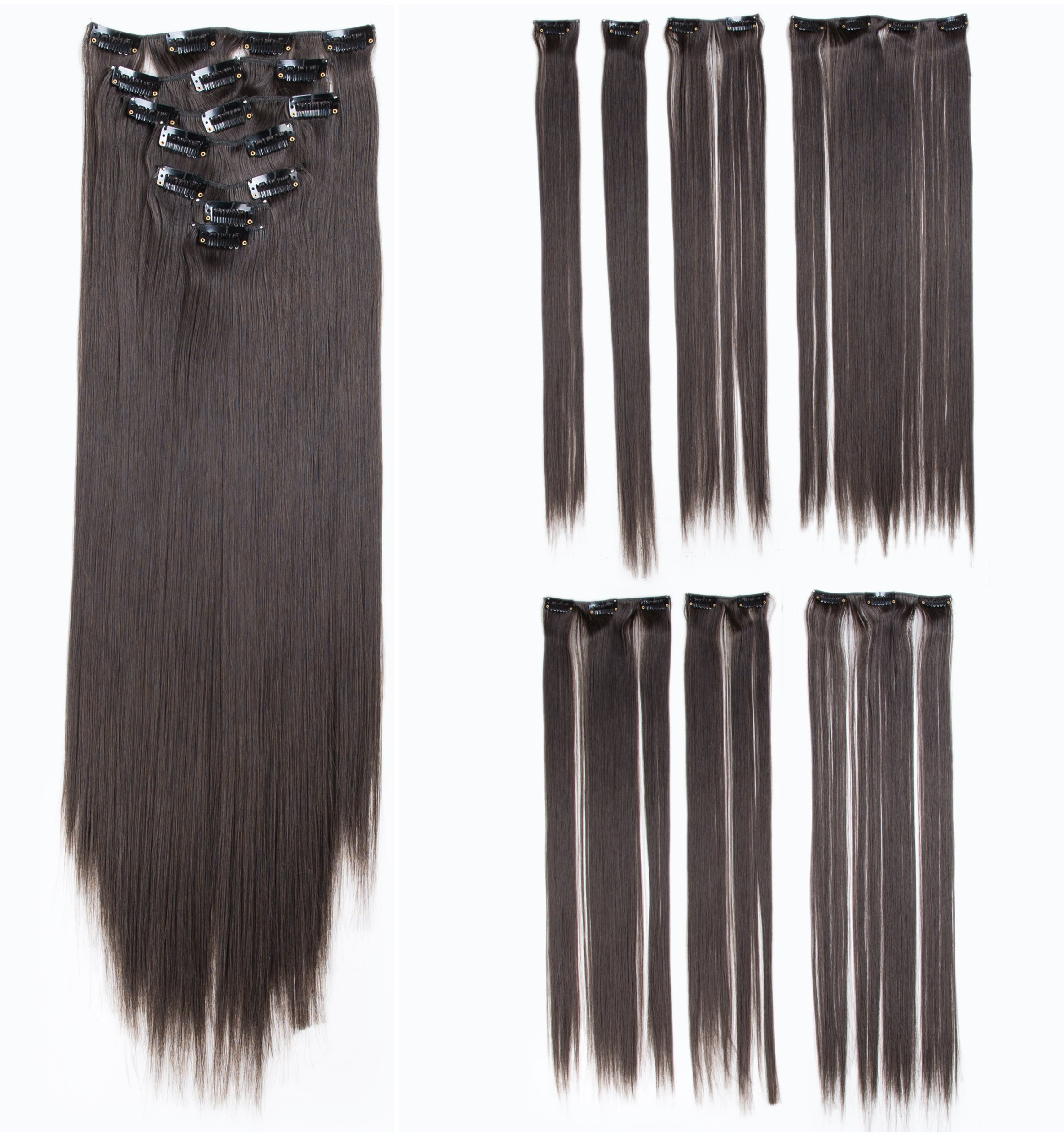 Amazon Swacc Women 22 Inches Straight Full Head 7 Separate