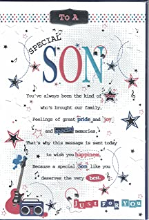 Son Birthday Card To A Special Just For You Pop Up Guitar