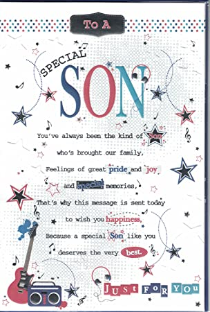 Son Birthday Card To A Special Son Just For You Pop Up Guitar