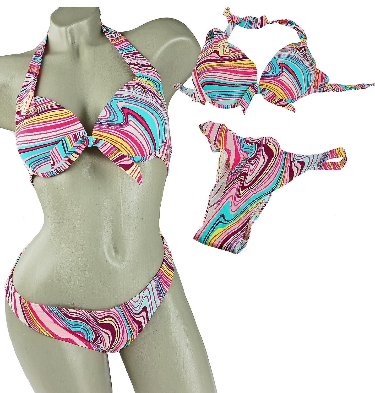 LingaDore Beach Bikini Zweiteiler aus Lycra Streifen bunt