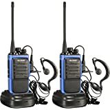 Arcshell Rechargeable Long Range Two-way Radios with Earpiece 2 Pack UHF 400-470Mhz Walkie Talkies Li-ion Battery and Charger included