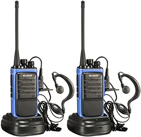 58a3d6e4f44 Amazon.com  Arcshell Rechargeable Long Range Two-Way Radios with Earpiece 2 Pack  UHF 400-470Mhz Walkie Talkies Li-ion Battery and Charger Included  Car ...