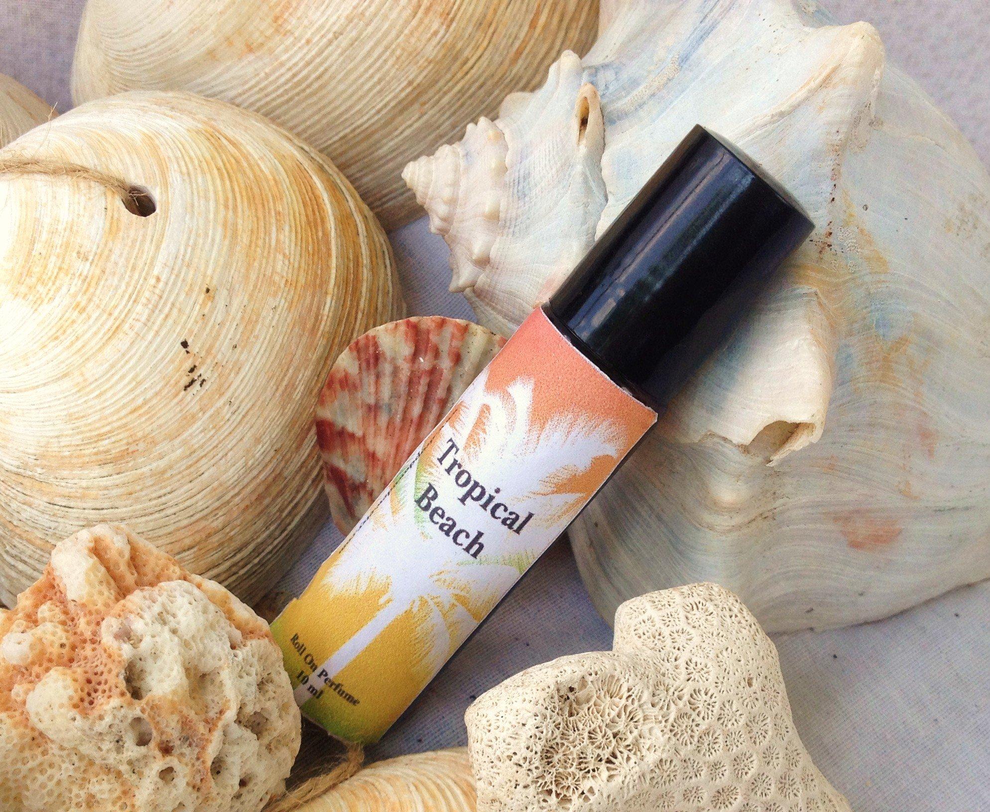 Tropical Beach Roll On Perfume, Coconut Scent, Beach Scent, Tropical Scent, Perfume Roll On, Aromatherapy, 10 ml Perfume, Fragrance Oil