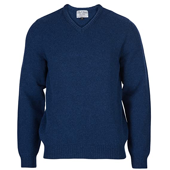 a469c214dae5 Paul James Knitwear Men's 100% British Lambswool V Neck Jumper ...
