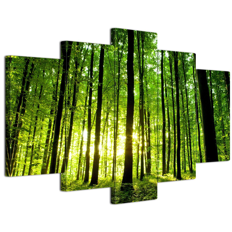 【リブラLibra】 5パネルセット アートパネル インテリアアート「林森」 キャンバス絵画 (木枠付きの完成品) (L, LP1705) B075STP78W Large|LP1705 LP1705 Large