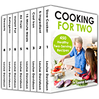 Cooking for Two Cookbook 450 Healthy Two-Serving Recipes Box Set 8 books in 1 including: Slow Cooker, 5-ingredient, Cast Iron, 15-minute Meals, Air Fryer, ... Desserts Recipes (English Edition)