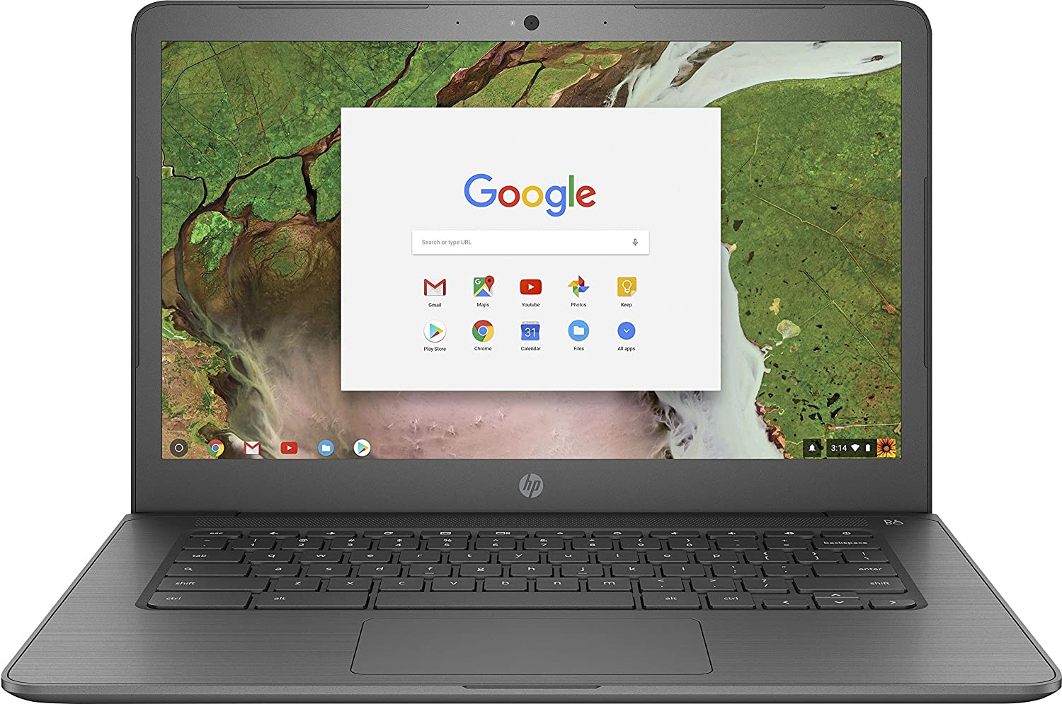 "HP 14"" Touchscreen Chromebook - AMD Dual-Core A4 - 4GB Memory - 32GB eMMC - WiFi & Bluetooth - Webcam - Gray"