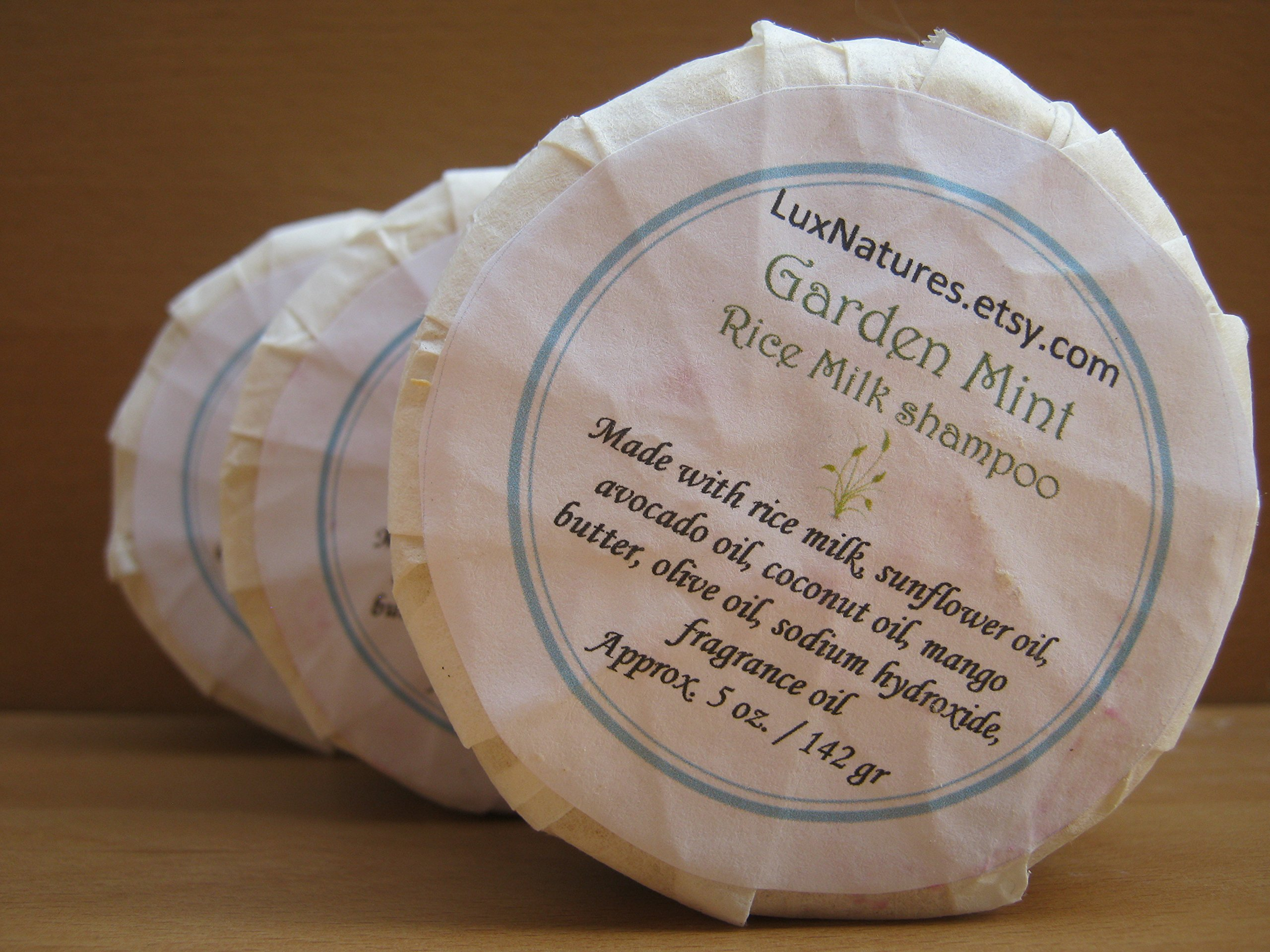 50 Wholesale Bulk lot Rice Milk natural hair shampoo soap bars by Lux Natures