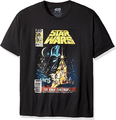 Star Wars - Camiseta de manga corta para hombre, diseño de cómic de Saga Continúa - Negro - XX-Large: Amazon.es: Ropa y accesorios