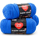 RED HEART Super Saver 3-Pack yarn, BLUE 3 Pack
