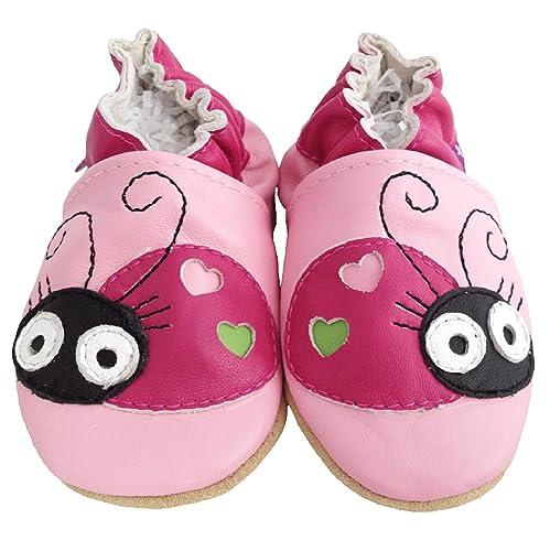 Suaves Zapatos De Cuero Del Bebé Mariquita 0-6 meses q9IbxSFhs