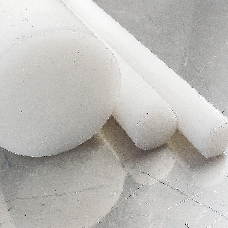 Kunststoffstab Zuschnitt L: 600mm 60cm Polyamid PA6 Rundstab natur /Ø 6mm