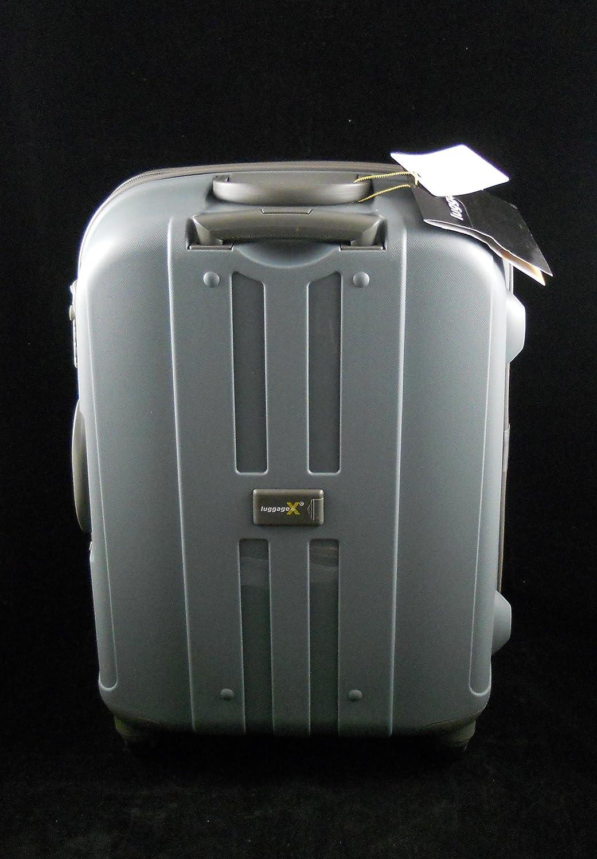 LuggageX Bagage rigide ultra l/éger /à roulettes 66 cm Face en polypropyl/ène Gris