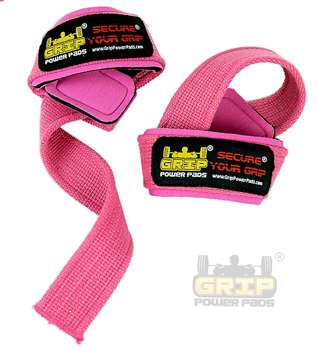 PINK Women Classic Heavy Duty Neoprene Padded Weight Lifting Straps, ☆EXTRA CUSHION☆ At the ✓Carpal Tunnel ✓For Wrist Comfort & Optimal Power Lifting ...