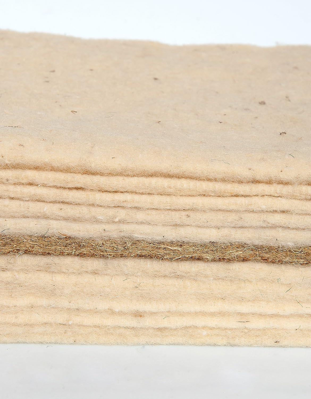 Asa Matratzen Hanf-Futon: Besteht aus 10 Lagen 100% Reine Schafschurwolle 500g und 1 Lage Hanf 1.750g / Höhe: ca. 11cm (160 x 200 cm)