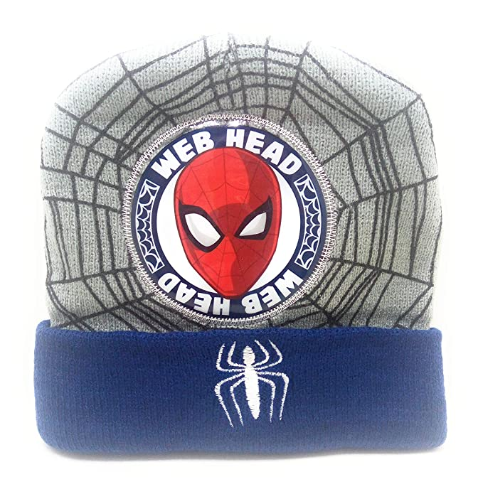 59b39b8ad QnQ Kids Spider Web Head Wool CAPS by WINTERSHOP (Limited Edition) (Grey)