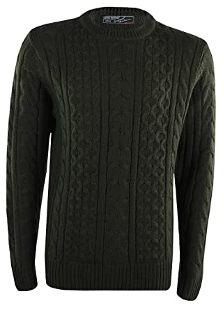 Urban Revival Mens Chunky Knit Cable Knit Jumper Thick Warm Winter Knitted  Sweater Knitwear  Amazon.co.uk  Clothing 8e5c58354