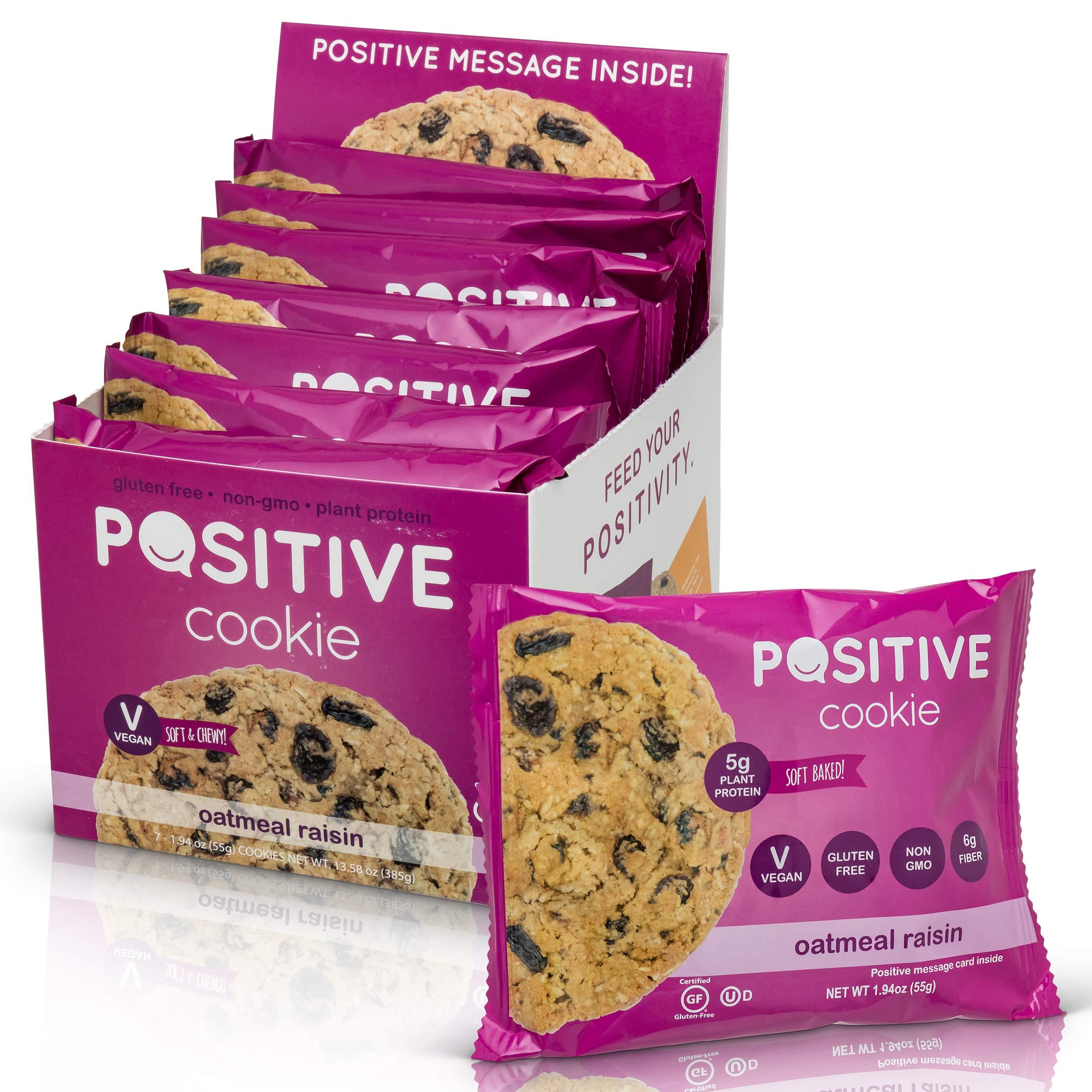Oatmeal Raisin Gluten Free Kosher Vegan Protein Cookies (7 Cookies) by Positive Cookie