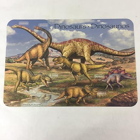 Amazon.com: Dinosaurios trilingüe doble cara Actividad de ...