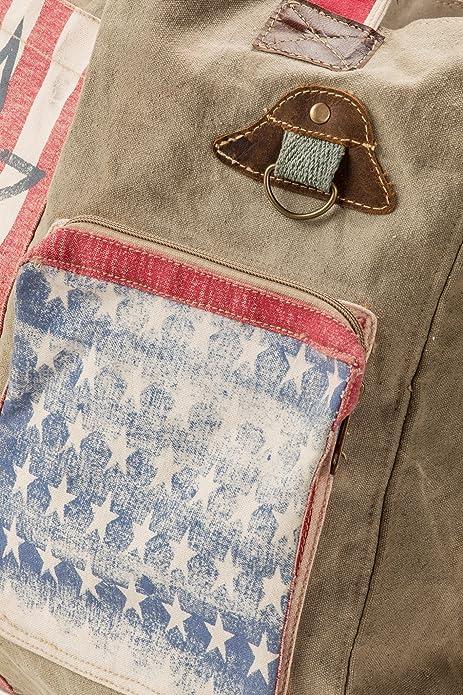 Amazon.com: Bolsa de EE. UU. América Bandera Vintage lavar ...