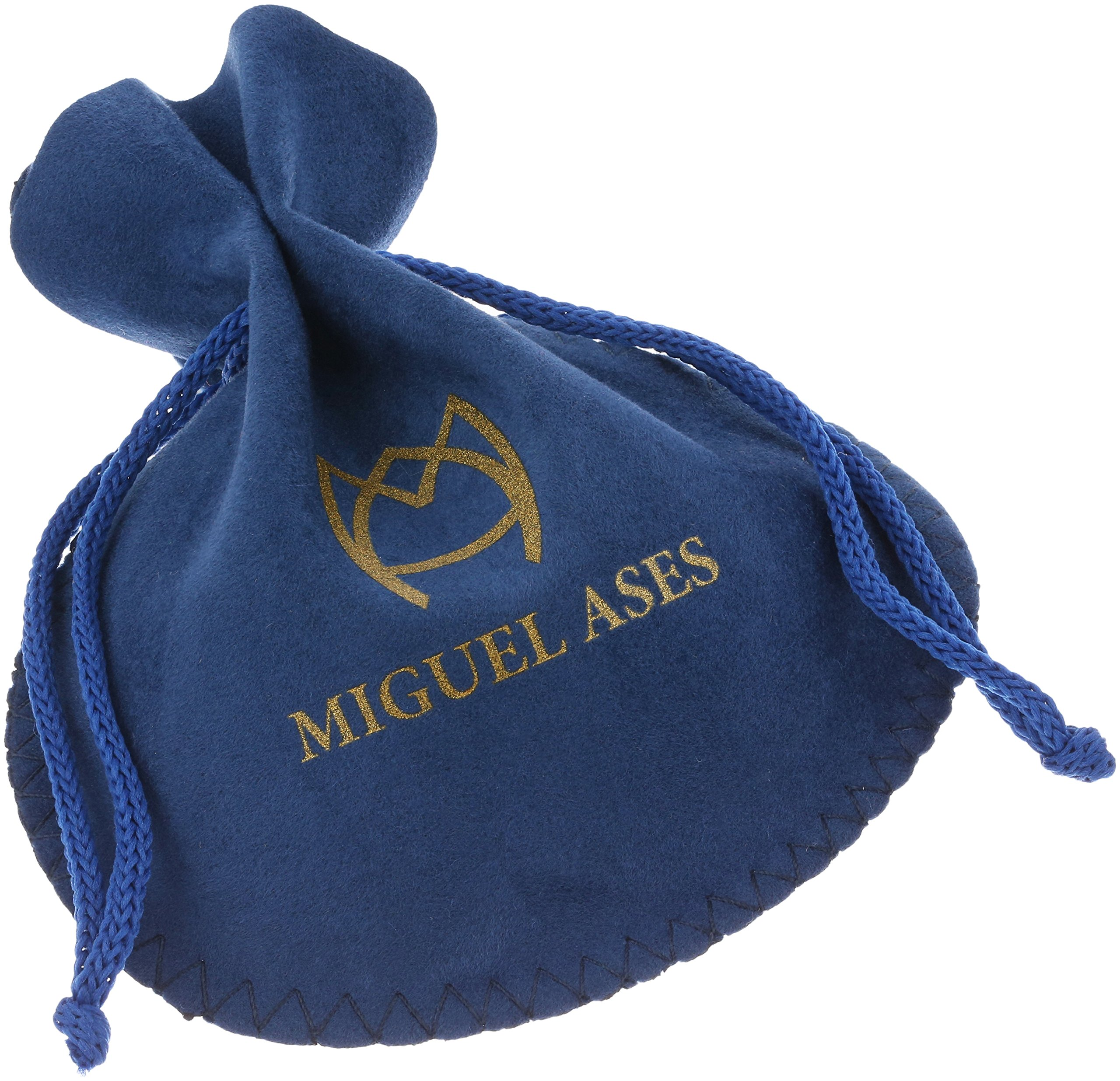 Miguel Ases Vertical Linear Fleur Petals Swarovski Cluster Post Drop Earrings, Egyptian Blue by Miguel Ases (Image #3)