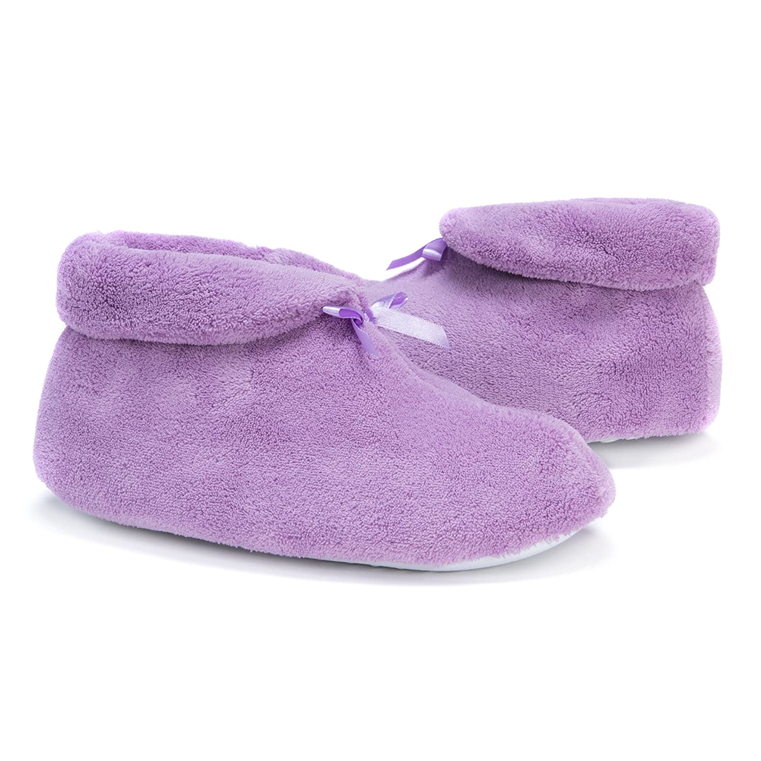 855fb226f9cb3 Amazon.com | Muk LUKS Women's Micro Chenille Slipper Bootie | Slippers