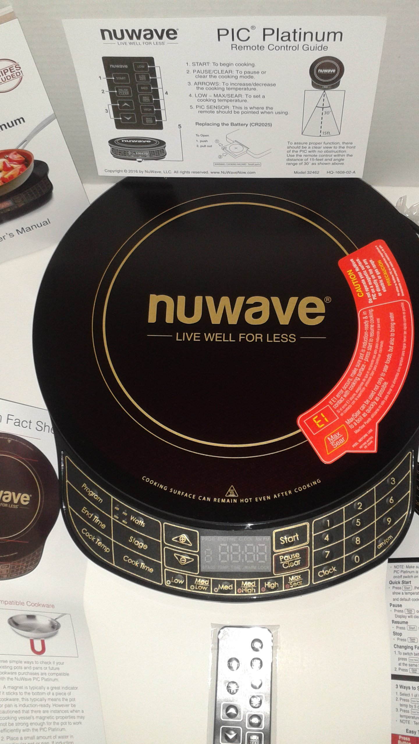 NuWave Platinum 30401 Precision Induction Cooktop, Black with Remote and Advanced Features for 2017 by NuWave (Image #2)