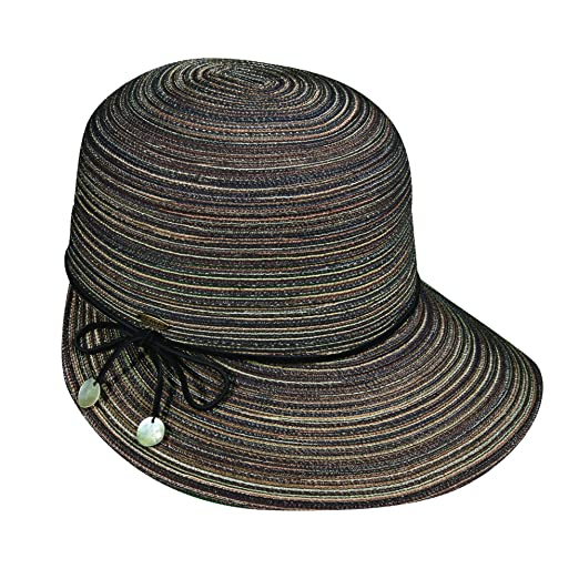 dea9124f001da SCALA Women s Big Brim Poly Braid Shapeable Face Saver Sun Summer Hat  (Black)