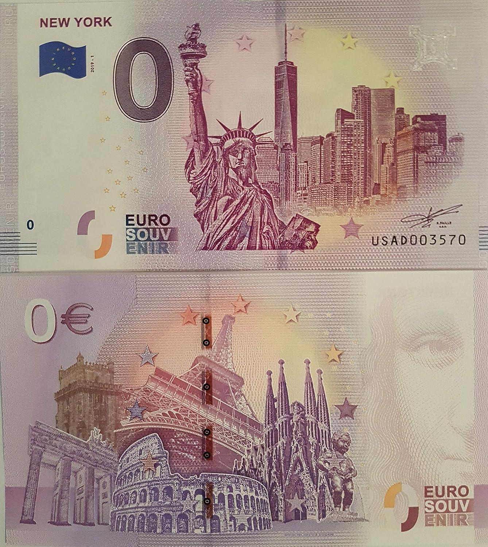USA Null Euro /€ Souvenir-Schein Banknote Amerika 0 Euro Schein New York 2019-1