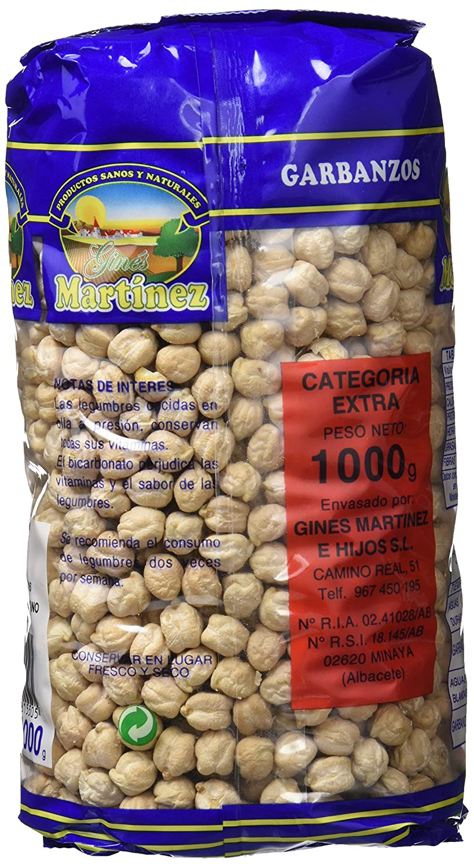 Ginés Martínez Garbanzos Castellanos - 1 kg - [Pack de 5]: Amazon.es: Alimentación y bebidas