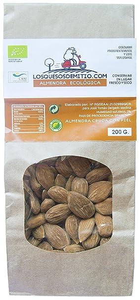Almendras ecológicas deliciosas y saludables de Losquesosdemitio, crudas, sin sal añadida, cultivadas en