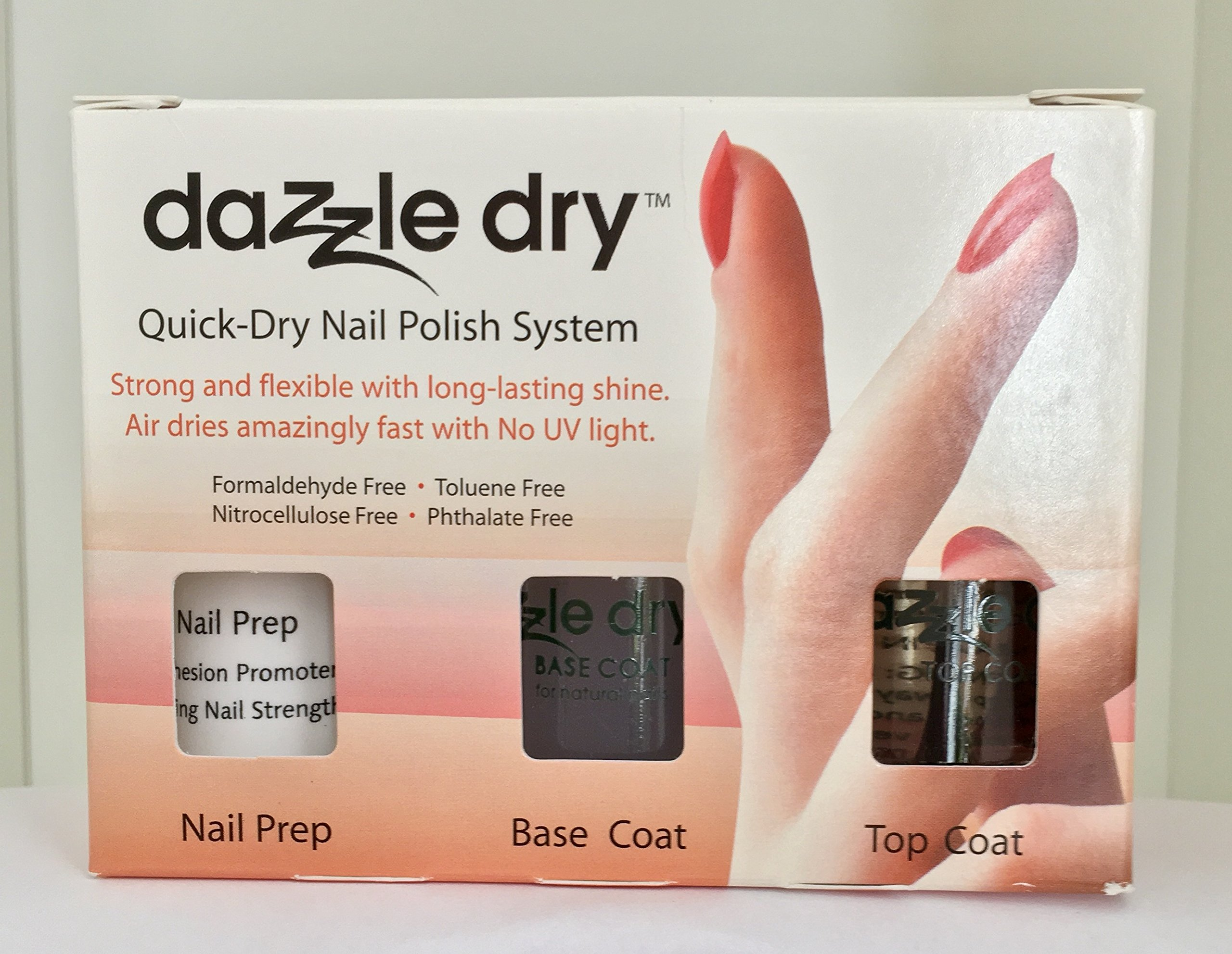 Amazon.com : Dazzle Dry Nail Polish System Kit 4 pc with 0.5 fl.oz ...
